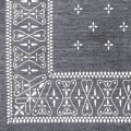 Cross Bandanna Rug Grey 140×100cm