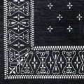 Cross Bandanna Rug Black 140×100cm