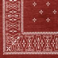 Cross Bandanna Rug Burgundy 200×140cm