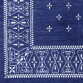 Cross Bandanna Rug Navy 140×100cm